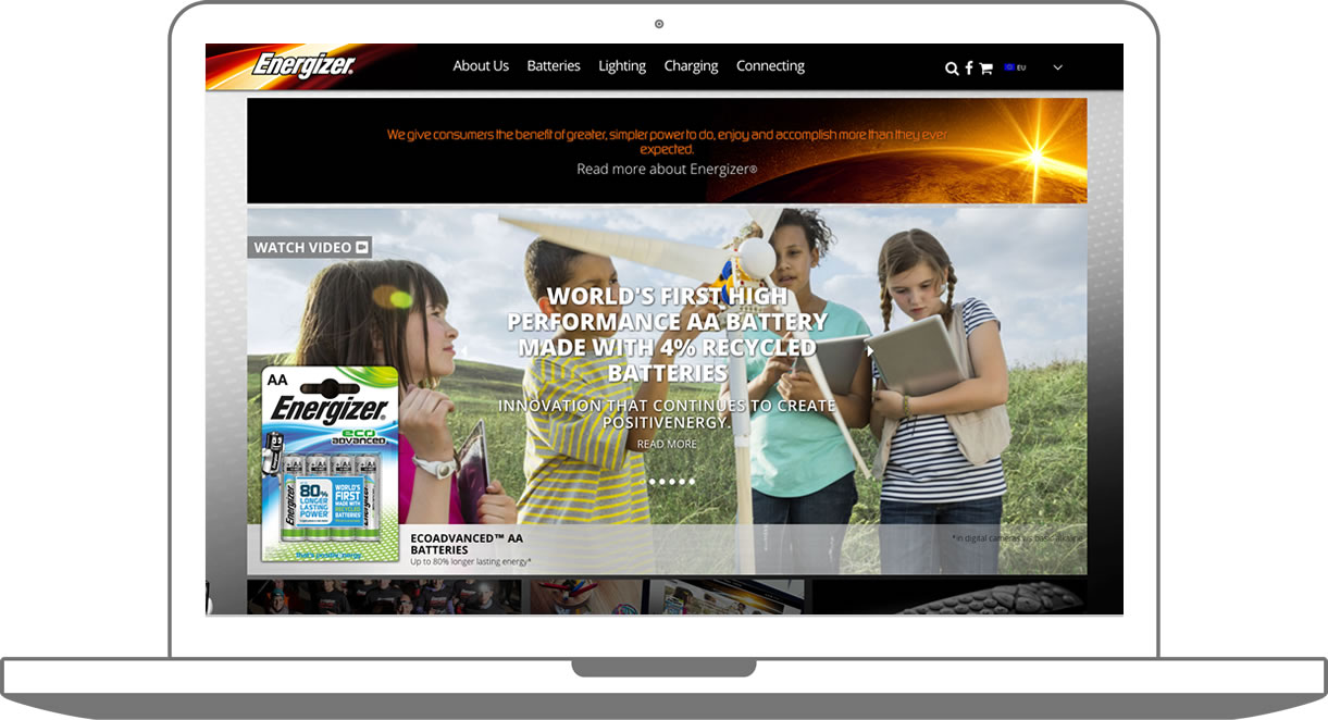 Custom WordPress build for Energizer EU